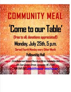 graphic for community meal July 2016